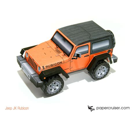 Papercraft Jeep - jeep wrangler jk rubicon paper model released