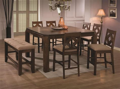modern counter height dining tables walnut finish modern counter height dining table w options
