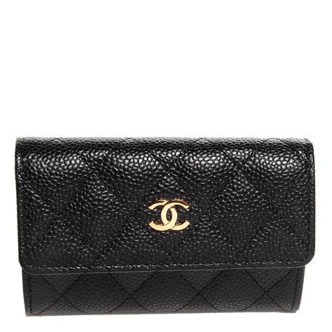 Card Holder Chanel chanel caviar quilted card holder black 84266
