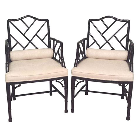 bamboo chippendale chairs baker faux bamboo chippendale regency chairs