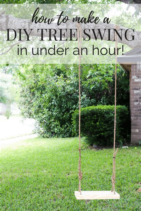 how to install a swing on a tree branch how to make a diy wood tree swing love renovations
