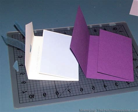 handmade card idea how to make a unique tri fold card
