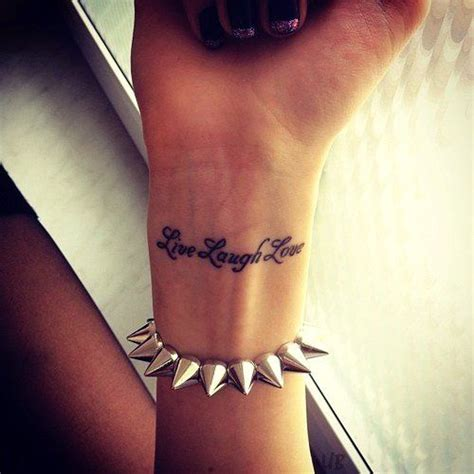 live laugh love tattoos on wrist attractive wrist ideas for and