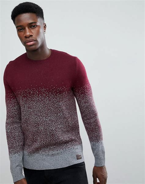 Levi S Lightweight Summer Hoodie Grey Maroon lyst hollister crew neck knit jumper in burgundy grey ombre in for