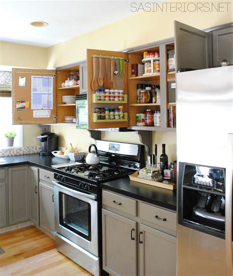 Interior Of Kitchen Cabinets Kitchen Organization Ideas For The Inside Of The Cabinet Doors Burger