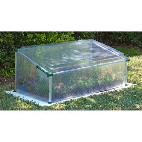 small green house poly tex 174 cold frame mini greenhouse 176690 greenhouses at sportsman s guide