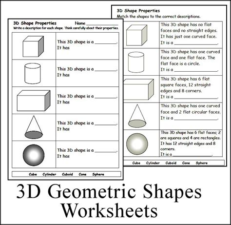 maths shapes with names worksheets reviewrevitol free printable worksheets and activities 3d geometric shape worksheets math homeschool teach chsh teach creations by lackert