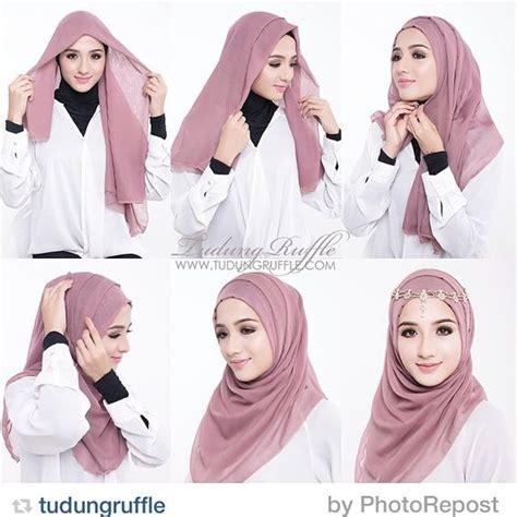 tutorial hijab simple dan praktis kumpulan tutorial hijab simple dan praktis paling cantik