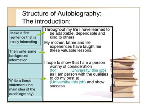 structure for biography descriptive essay autobiography
