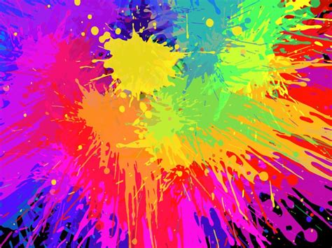 paint colorful bright colorful art colorful paint splats vector