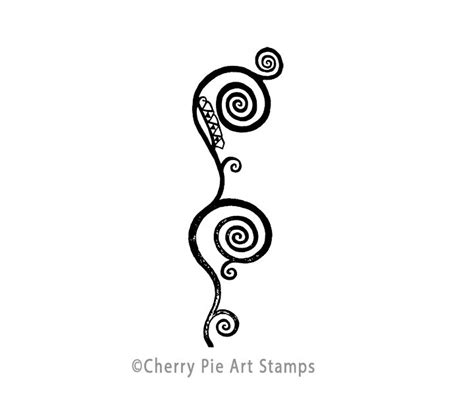 cherry pie rubber sts spiral border by gustav klimt cling rubber cherrypie
