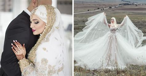 brides wearing hijabs   big day  absolutely