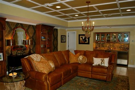 Wallpaper Rustic Man Cave   Traditional   Family Room   Other