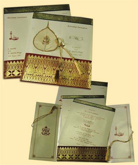 Concept Wedding Cards Chennai by Antique Saree Concept Wedding Invitation Cards In Arcot