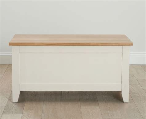 ivory painted pine ash wood blanket box chest storage