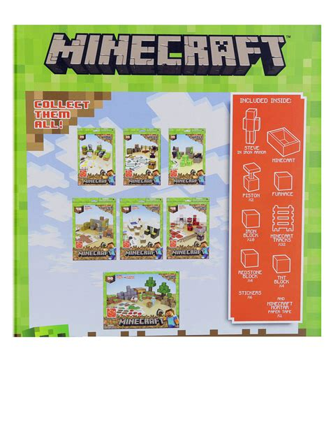 Minecraft Papercraft Minecart Set - minecraft papercraft minecart set craft kits arts