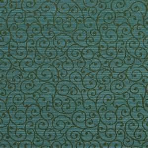 peacock aqua and green contemporary damask upholstery