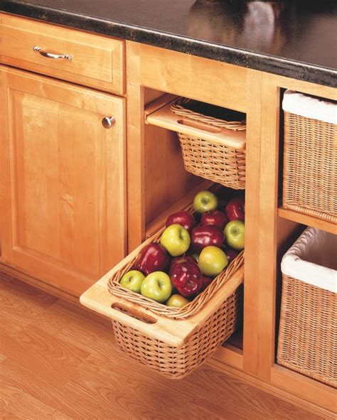 Kitchen Cabinet Baskets Rl Pull Out Rattan Basket For 15 Base Cabinnet 7041500