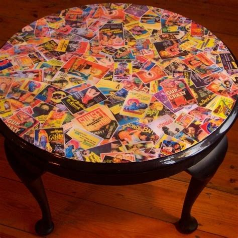 Decoupage Coffee Table - noir decoupage table for the home