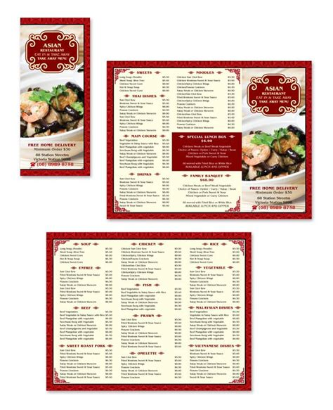 takeaway menu template asian restaurant take away menu template http www