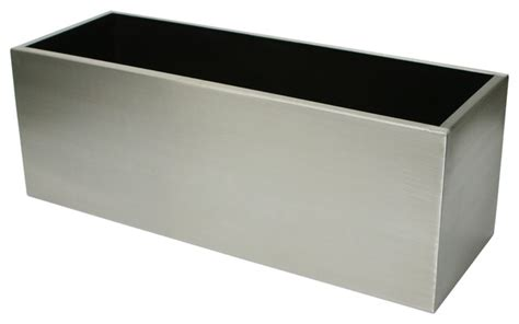 algreen stainless steel trough planter contemporary