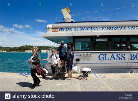 glass bottom boat menorca mahon glass bottom boat trip stock photos glass bottom boat