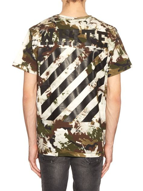 Apparel Lab Printed Prague White white c o virgil abloh camouflage print cotton jersey t shirt for lyst