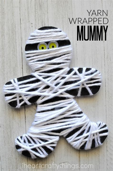 mummy craft for yarn wrapped mummy craft i crafty things