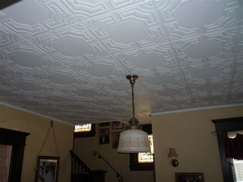 decorative ceiling tiles changing  flat surface