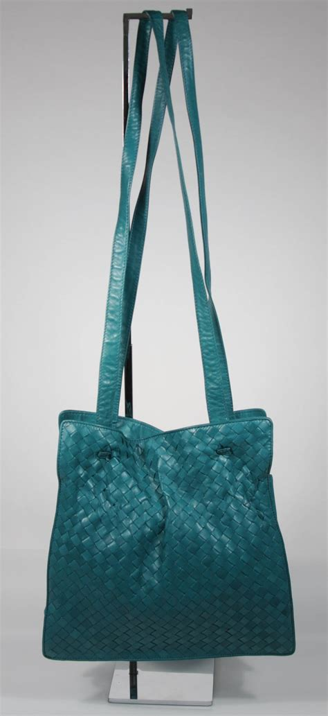 Shoulder Bag Turquoise bottega veneta vintage turquoise woven leather medium shoulder bag for sale at 1stdibs