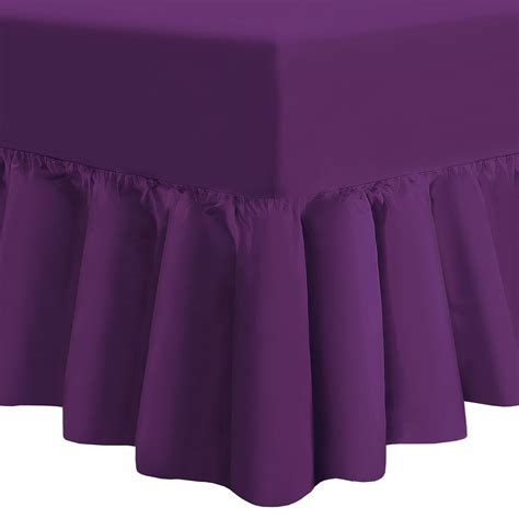 Frilled Valance Sheets hdn plain dyed fitted frilled valance sheet poly cotton sheets ebay