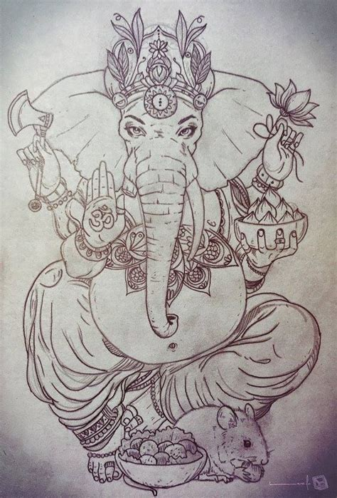 ganesha illustration tattoo for more visit facebook com thelazlodasilva tattoo