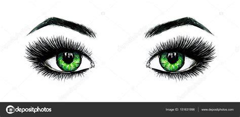 imagenes ojos abiertos hermosos ojos verdes femenino abiertos con pesta 241 as largas