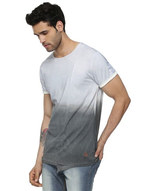 Tshirt Twotone Fade buy dip dyed two tone t shirt for s black wash t shirts in india