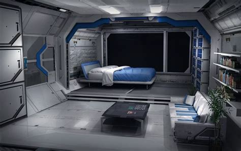 spaceship bedroom ue4 scifi deck polycount forum environment concept