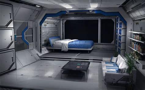 spaceship bedroom ue4 scifi deck polycount forum environment concept gray rooms cabin ideas