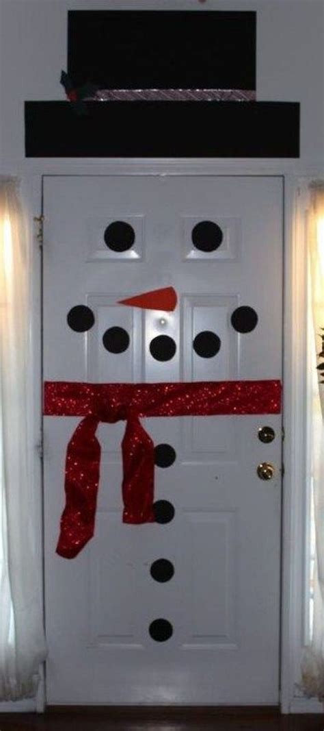 Snowman Decoration White new year door decoration ideas and techniques
