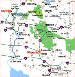 map of in arizona az map highways