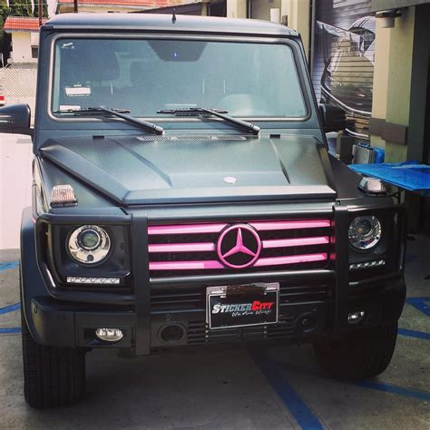 pink g wagon mercedes g wagon with pink accents and powder coated
