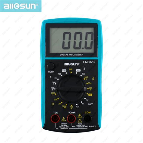Volt Meter Digital Vst Multi Display 2 Mode Led Back Light all sun em382b lcd display digital multimeter voltage dc