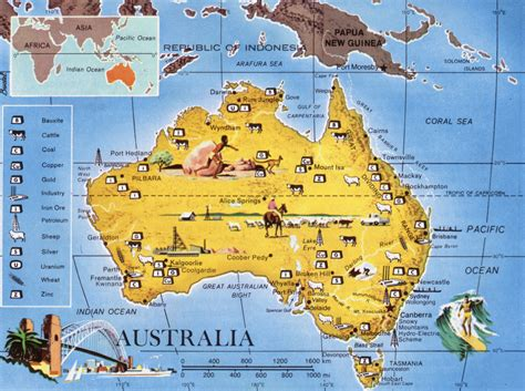 australia in map maps resources in australia