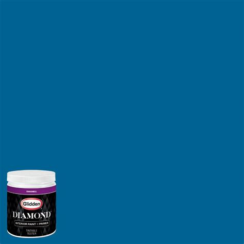 glidden premium 8 oz nhl 033g winnipeg jets light blue eggshell interior paint with primer
