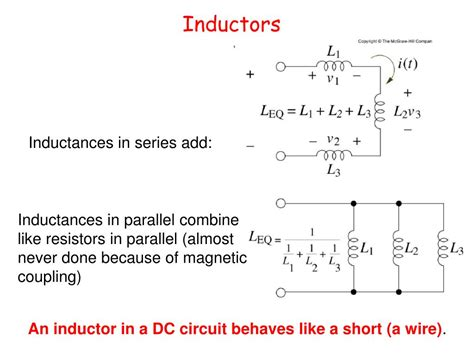 inductors in series or parallel ppt announcements powerpoint presentation id 622854