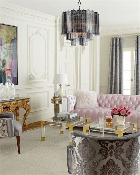 pink living room set this elegant apartment is what home decor dreams are made