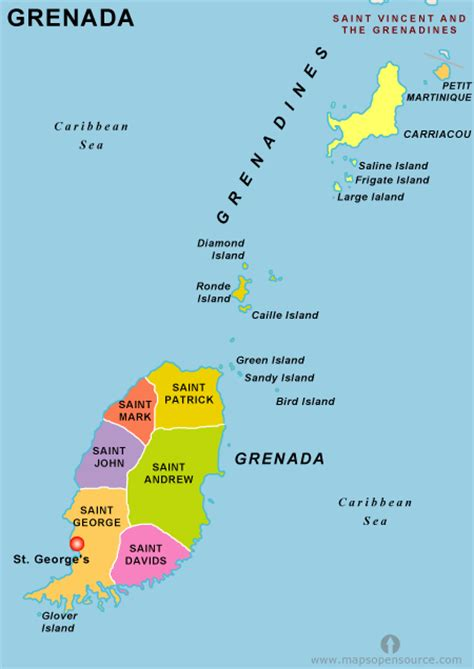 where is grenada on a map free grenada map map of grenada free map of grenada