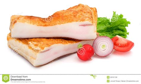 bacon cut in half vegetables stock photo image 29161130