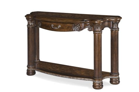 michael amini sofa table michael amini monte carlo ii cafe noir traditional console