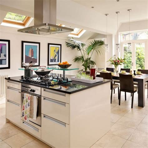 kitchen diner ideas white modern kitchen diner kitchen design idea housetohome co uk