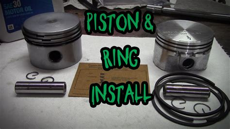 install  piston  rings youtube