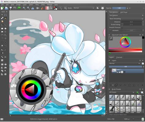 painting software open source and free software news krita 2 8 released
